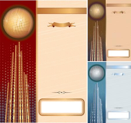 Set of vector template for your diplomascertificates. Golden, silver, bronze backdrops- include CMYK Vector