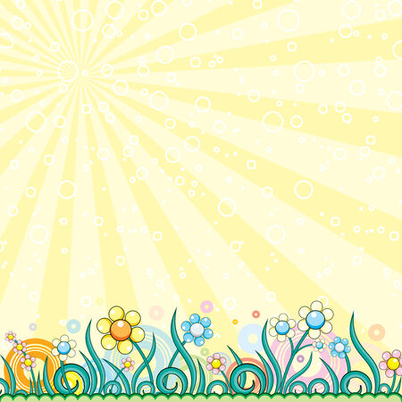 pasqua: Brightly colorful vector background  Illustration