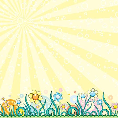 pasqua: Brightly colorful vector background  Illustration