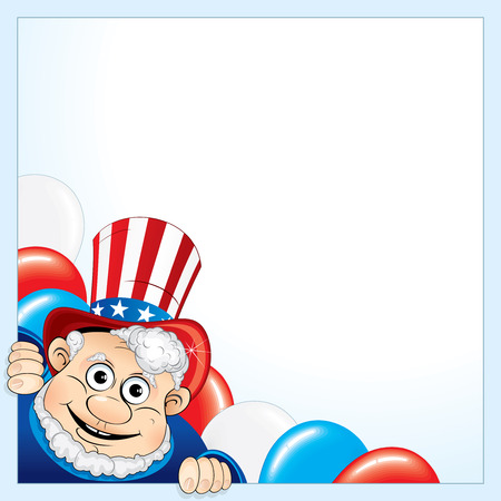 Uncle Sam background for your text Vector