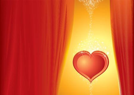Sweet heart background Stock Vector - 7606242