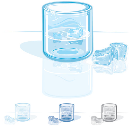 cold glass(NO gradient NO meshes ) Stock Vector - 7606217