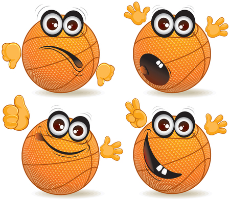 world player: Cartoon basketball fan  Illustration