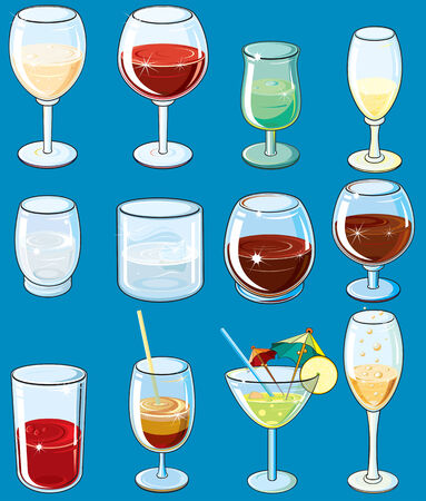 Collection of various beverages Stock Vector - 7628798