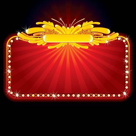 Neon luxury sign Stock Vector - 7628802