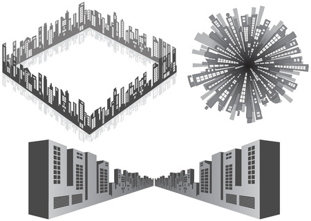 Cityscape isolated elements  Vector