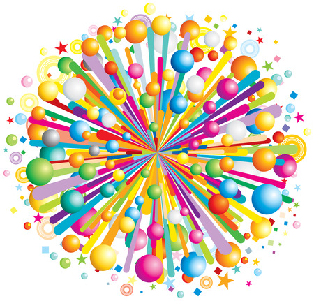 animation: Multicolor cartoon burst  Illustration