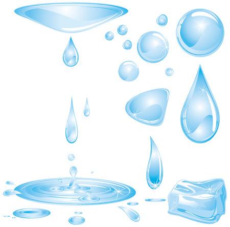 Water elements  Stock Vector - 7628803