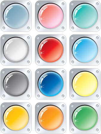 buttons collection Stock Vector - 7628839