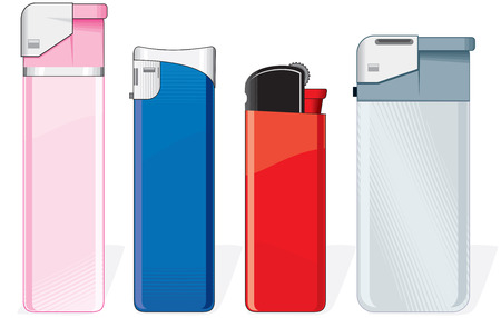 Various cigarette lighters Vector