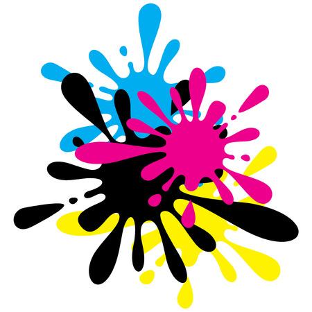 Ink Splashes Vector