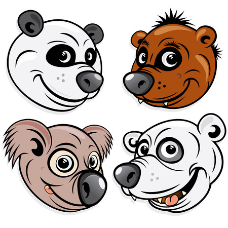 Bears - include Panda, Brown Bear, Koala, Polar bear Vector