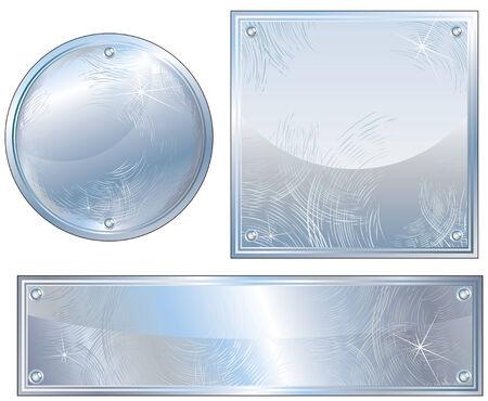 lamiera metallica: Segni Platinum spazzolati Vettoriali