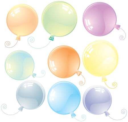 Special glossy balloons Stock Vector - 7628868