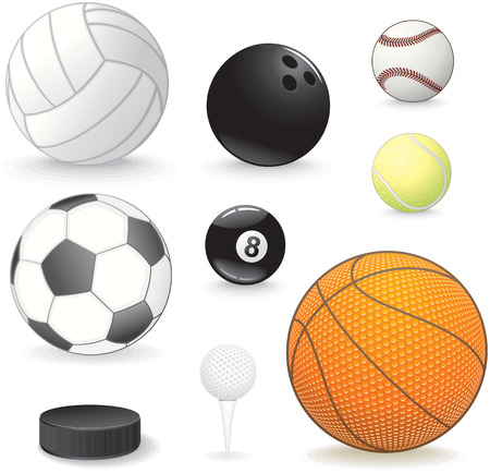 Sport balls collection Stock Vector - 7628945