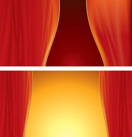 encore: Red Curtain background  Illustration