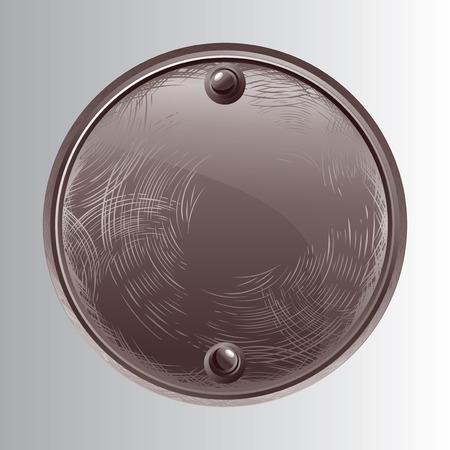 Black Round stone Vector