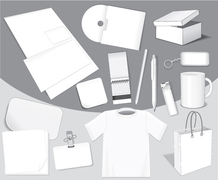 Blank isolated objects for your design Vector