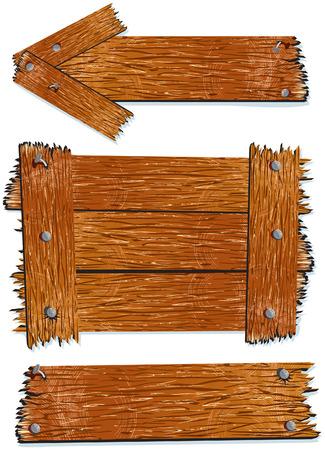 letrero: Tabla de señales de madera