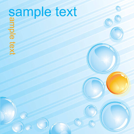 Abstract bubbles vector background Vector