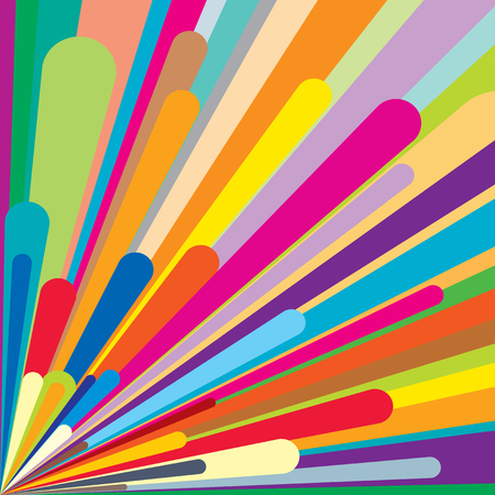60's: Colorful retro vector background