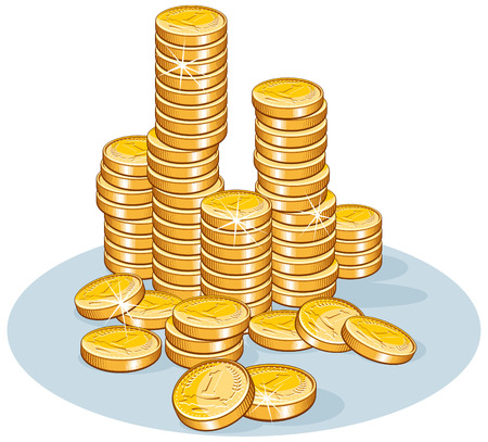 Pile of coins- vector illustration