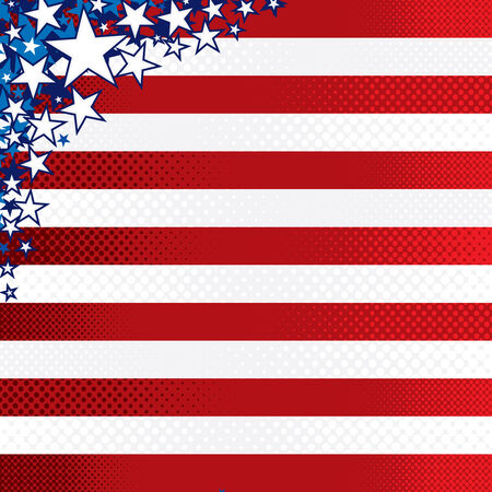 Stylized american background Vector