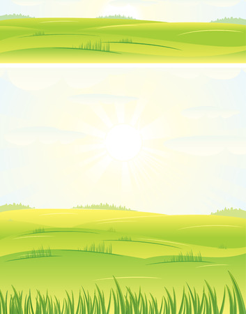 Summer day-vector banner and background Stock Vector - 7649813