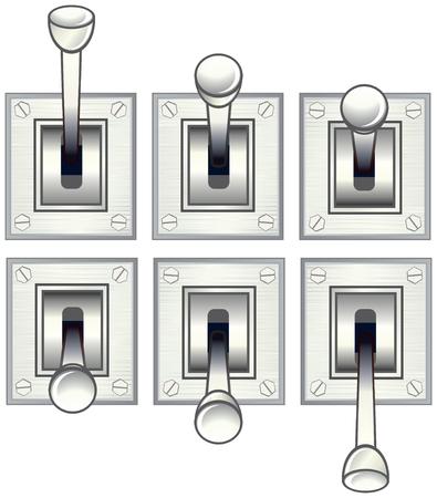 palanca: Interruptor de palancaalternar de vector  Vectores