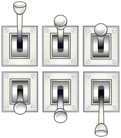 toggle: vector levertoggle switch Illustration
