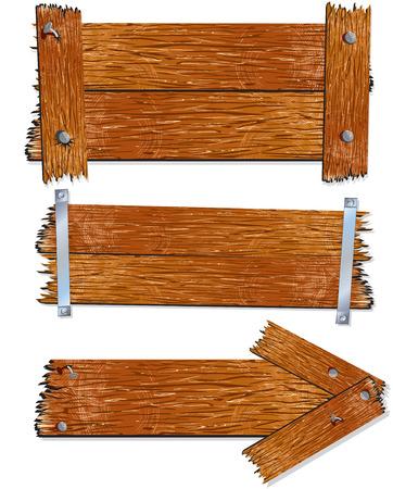 Illustrazione di segni/pensione-vettoriale in legno  Vettoriali