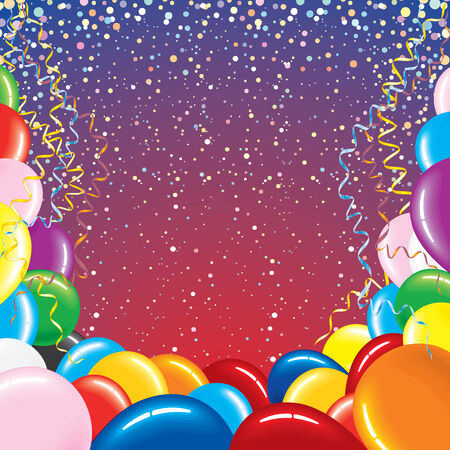 balloon border: Festive vector background for your text Illustration