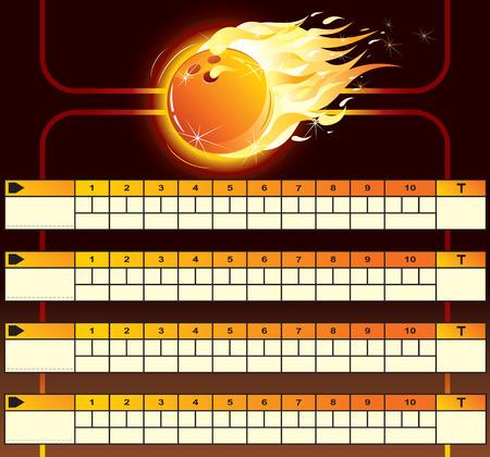 Bowling scoreboard-vector Stock Vector - 7649807