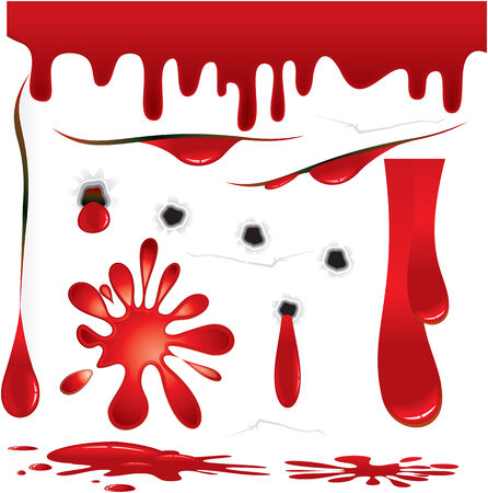 uccidere: Set di elementi vettoriali progettazione Blood