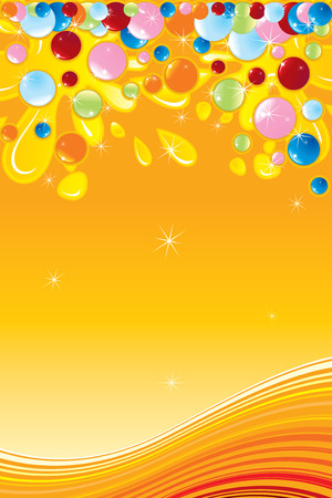 Candy background with copy space  Vector