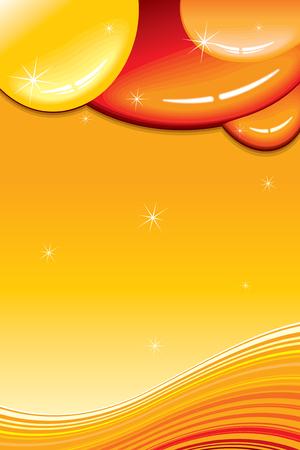 Caramel card vector template  Stock Vector - 7649795