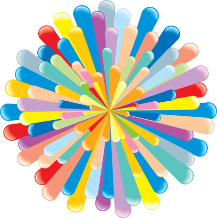 gums: Colorful retro explosion- vector