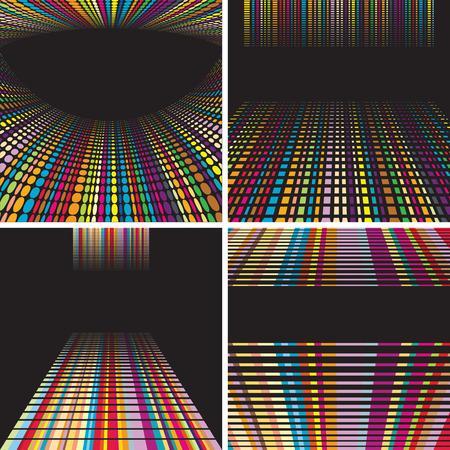 digital backgrounds set  Vector