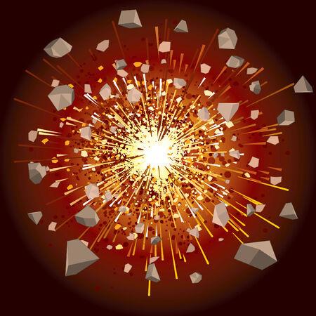 splinter: great explosion -   illustration (simple gradients)