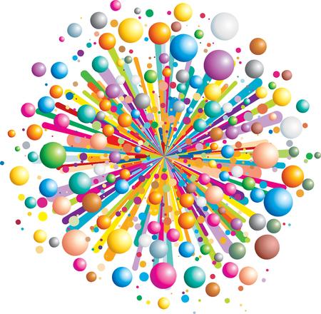 깜짝: Colorful funny explosion- cartoon   illustration