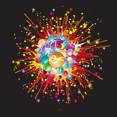 Music explode  image Stock Vector - 7684926