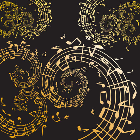 bass clef: Music swirl  Illustration