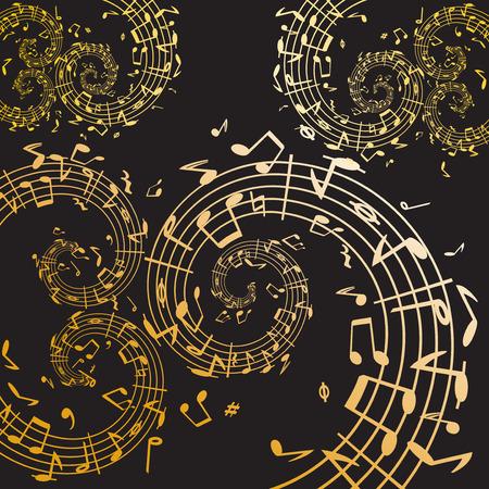 semiquaver: Music swirl  Illustration
