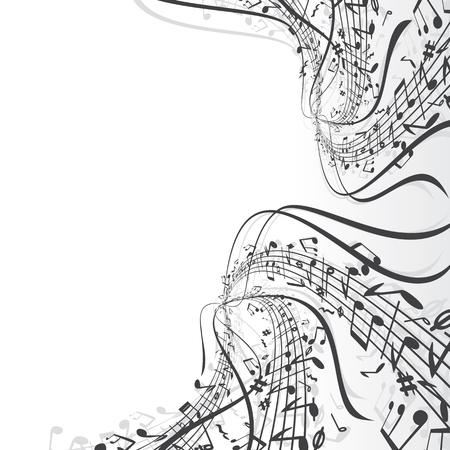 Composici�n de notas musicales  Foto de archivo - 7684885