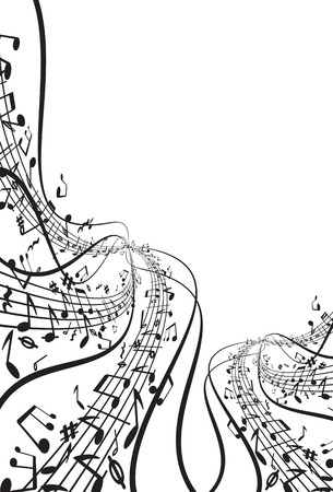 treble clef: Music   background  Illustration