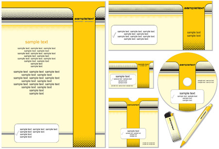 Office Design template. easy editable with flat colors Vector