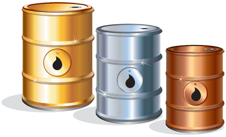 industrial drop: Prizes.Oil barrels,  icons