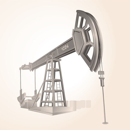 Realistic Oil pump , only gradients used Stock Vector - 7684871