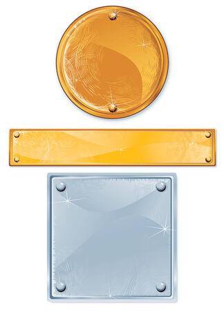 リベット、孤立したオブジェクトと洗練された金属板