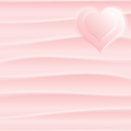Smooth silk heart on textile background Stock Vector - 7684872
